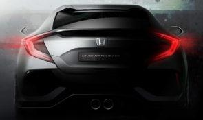 Prototype Honda Civic hatchback op autosalon van Genève